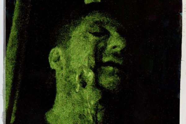 Ektoplasma aus Auge, Kai Mügge, Gesicht, Nahaufnahme