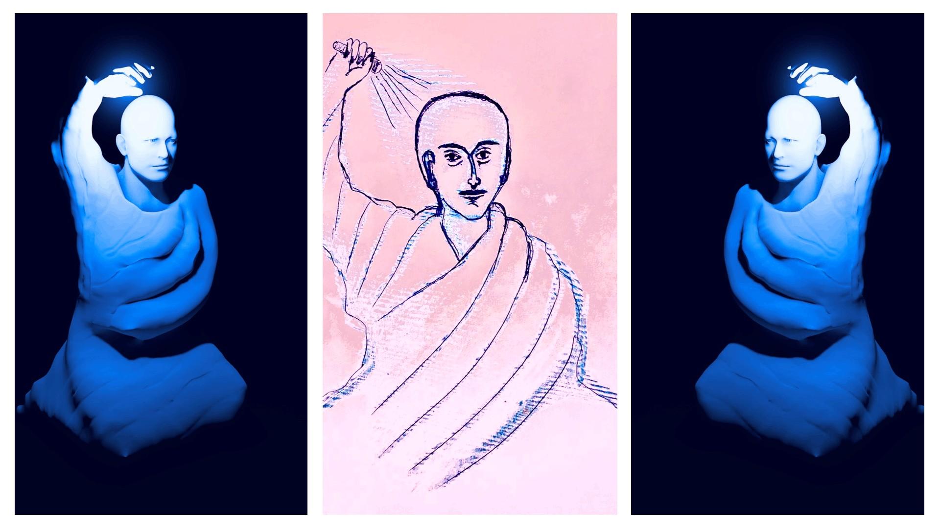 gemalt vollmaterialisation blau licht 2